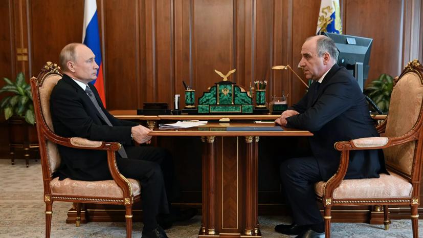 Глава Карачаево-Черкесии доложил Путину о темпах вакцинации в регионе