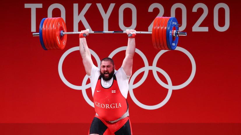 Тяжелоатлет Талахадзе завоевал золото ОИ в Токио в весе свыше 109 кг с мировым рекордом