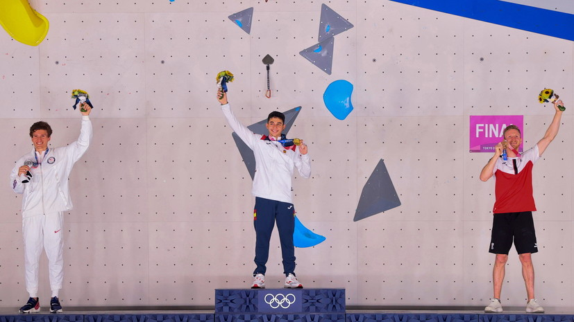 Испанец Лопес завоевал золотую медаль Олимпиады в скалолазании