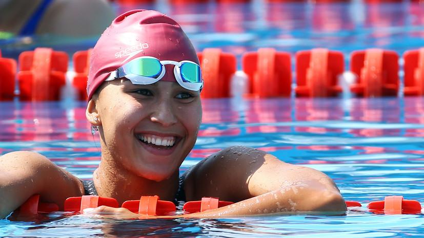Пятиборка Губайдуллинапобедила в заплыве на 200 м с олимпийским рекордом