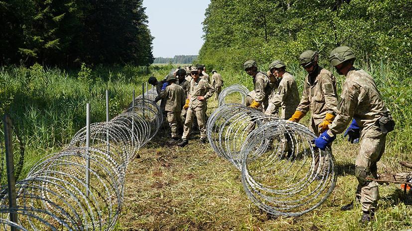 Страны Балтии выразили готовность защищать границу ЕС от мигрантов из Белоруссии