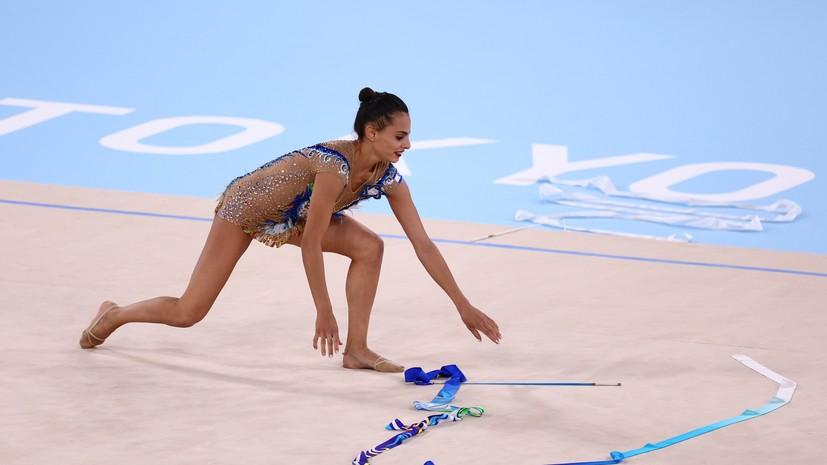 Израильская гимнастка Ашрам уронила ленту в ходе выступления на ОИ в Токио