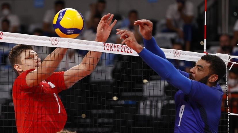 Российские волейболисты отыгрались с 0:2 и перевели в тай-брейк финальный матч с Францией на ОИ