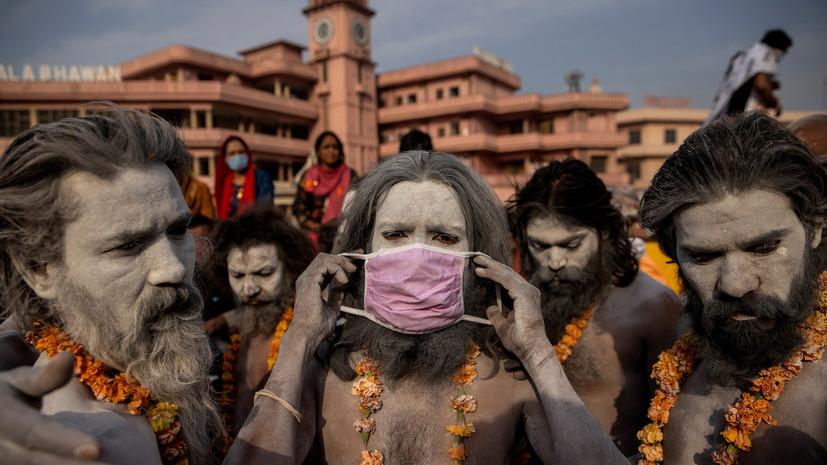 В Индии за сутки выявили более 35 тысяч случаев коронавируса
