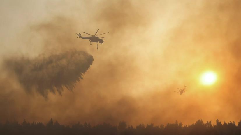 Путин поручил усилить помощь в борьбе с пожарами в Греции