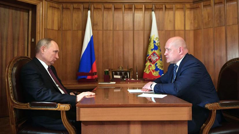 Путин провёл рабочую встречу с губернатором Севастополя