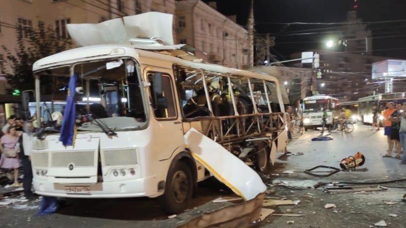 Один человек скончался из-за взрыва в автобусе в Воронеже