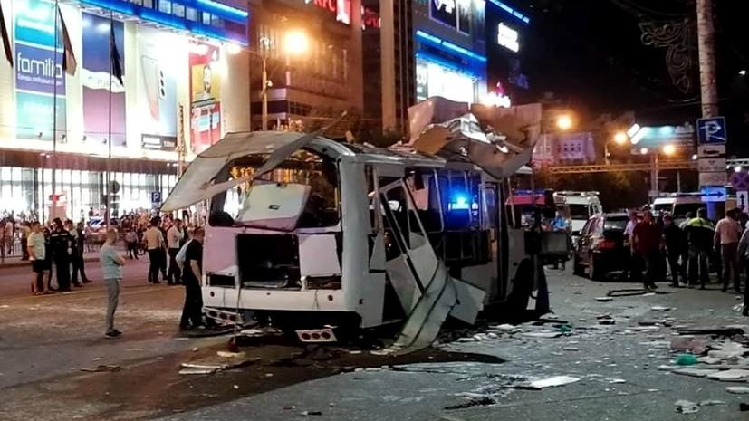 Число погибших в результате взрыва в автобусе в Воронеже возросло до двух