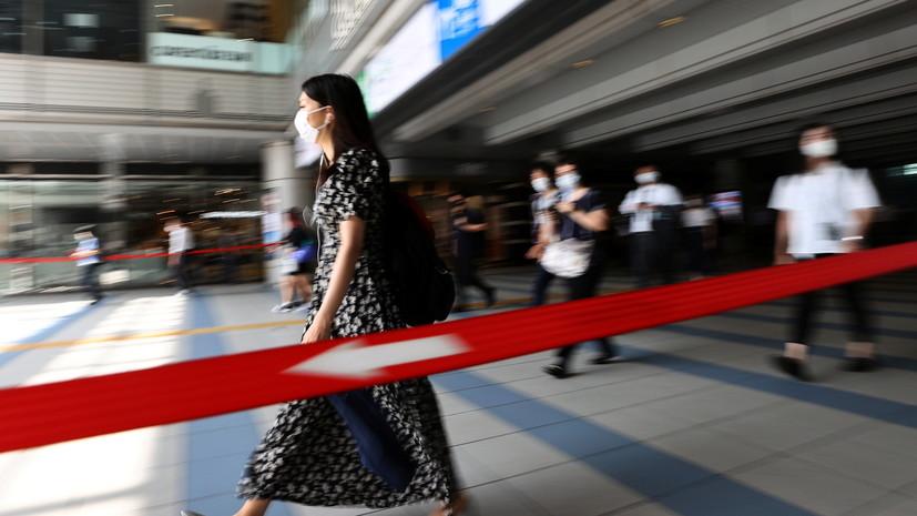 В Японии за сутки выявили свыше 20 тысяч случаев коронавируса
