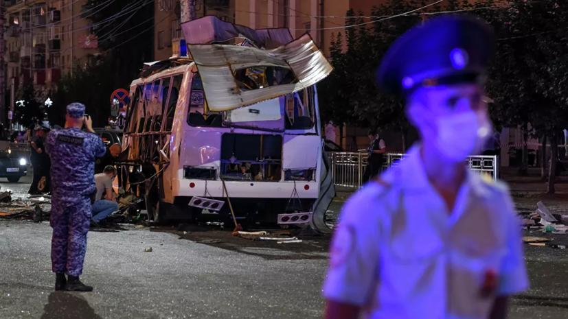 Источник рассказал подробности о взрыве в автобусе в Воронеже