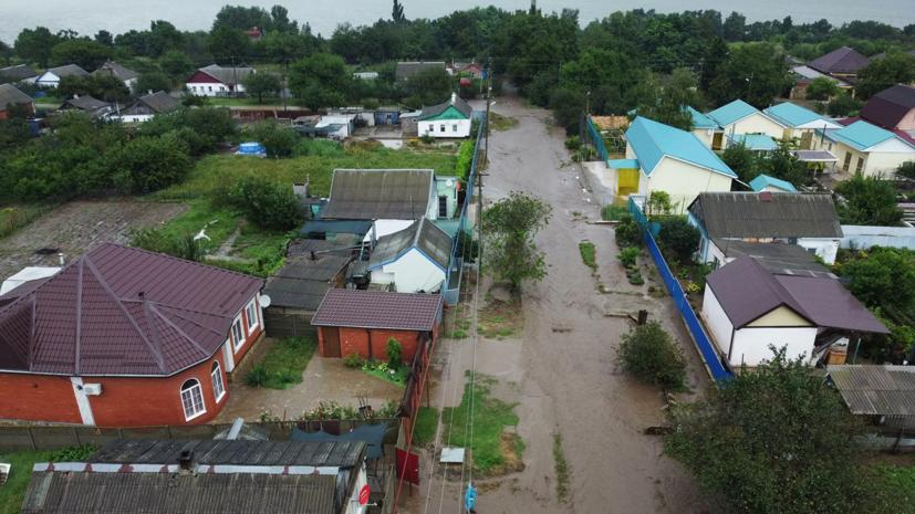 Число подтопленных домов на Кубани снизилось до 542
