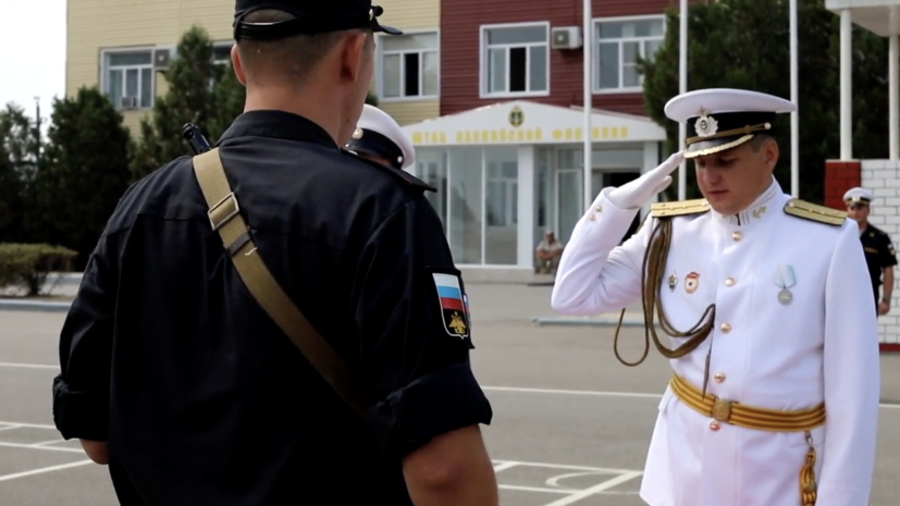 Новобранцы Каспийской флотилии приняли военную присягу в Дагестане