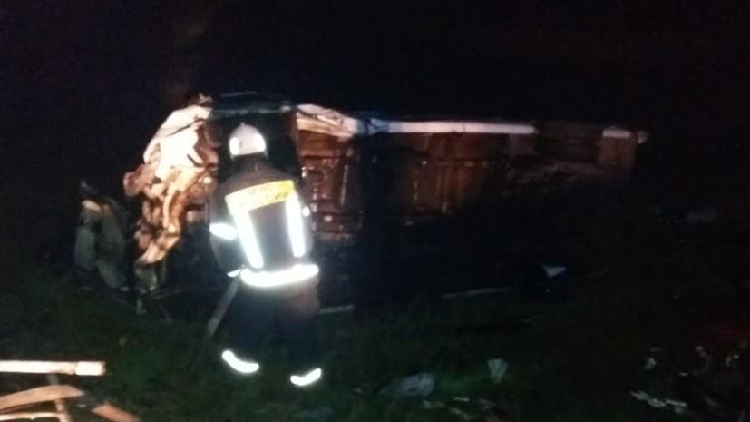 В Тамбовской области в результате ДТП с микроавтобусом погиб один человек