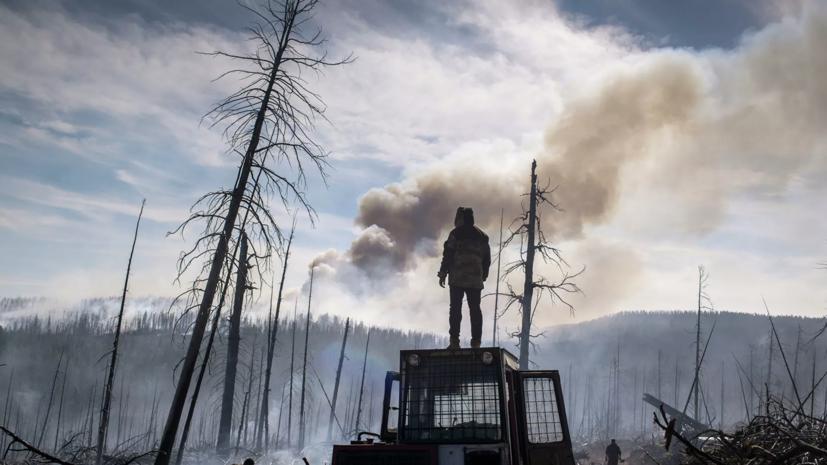 В МЧС сообщили, что площадь активного горения лесов в Якутии составляет 1,9 га