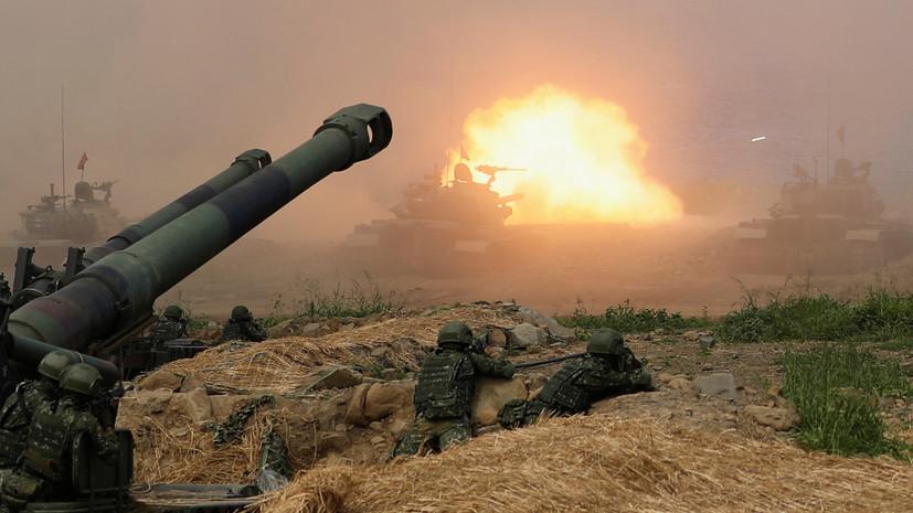 Таджикистан и Китай проводят учения с использованием танков и артиллерии