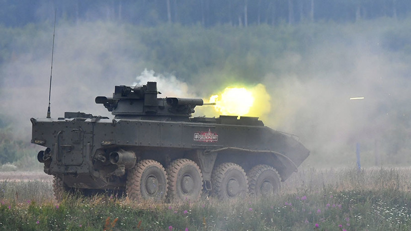 «Надёжно защищает экипаж»: какими возможностями обладает российская бронемашина «Бумеранг»