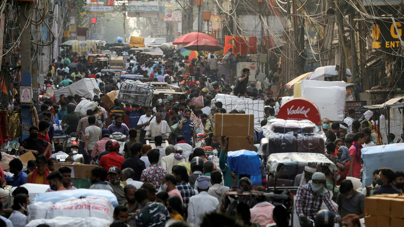 В Индии за сутки выявили более 44 тысяч случаев коронавируса