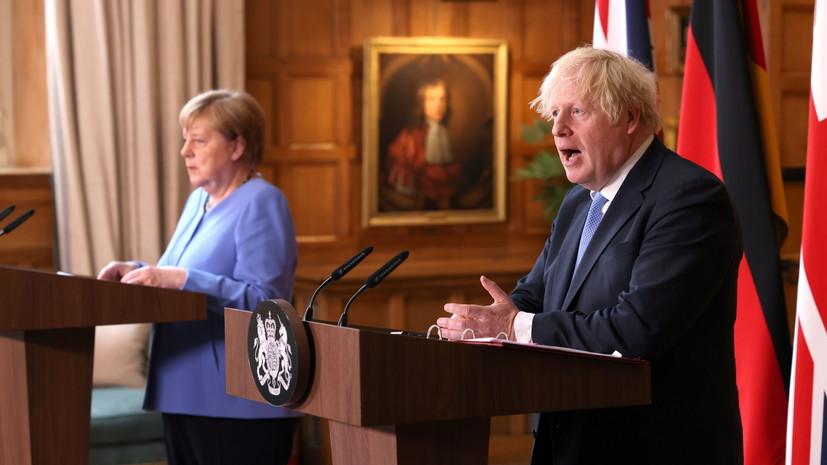 Джонсон и Меркель обсудили выработку подхода к отношениям с талибами