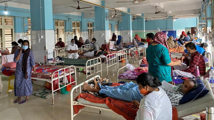 В Индии за сутки выявили более 45 тысяч случаев коронавируса