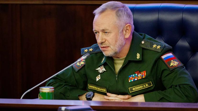 Замминистра обороны Фомин провёл переговоры с начальником штаба Национальной народной армии Алжира