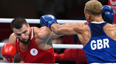 Боксёры Имам Хатаев (Россия) и Бенджамин Уиттакер (Великобритания)