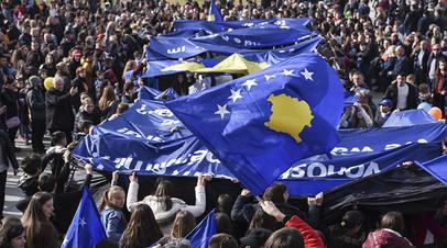 Празднование Дня независимости в Косове