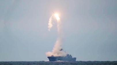 Запуск гиперзвуковой ракеты «Циркон» с фрегата «Адмирал Горшков»