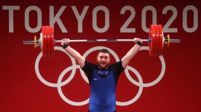 Российский тяжелоатлет Тимур Наниев