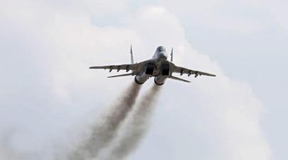 Самолёт МиГ-29 потерпел крушение в Астраханской области