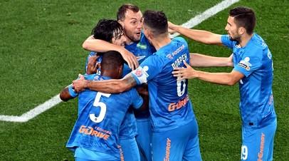 Futbolistas del Zenit en el partido ante el CSKA