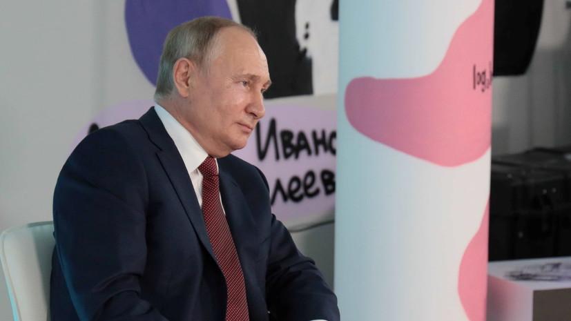 Школьник поправил Путина во время разговора о Северной войне