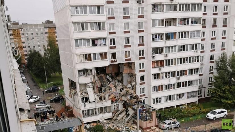 СК опубликовал видео с места взрыва газа в доме в Ногинске