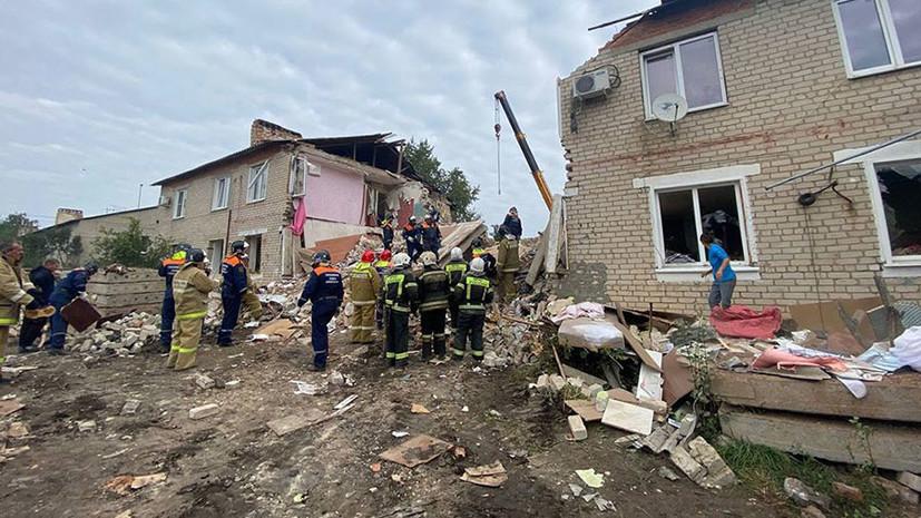 «По предварительной версии, из-за взрыва бытового газа»: три человека погибли при обрушении дома в Липецкой области