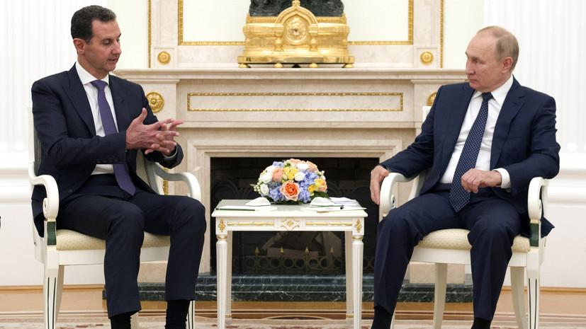 Песков заявил, что Путин решил уйти на самоизоляцию не после встречи с Асадом