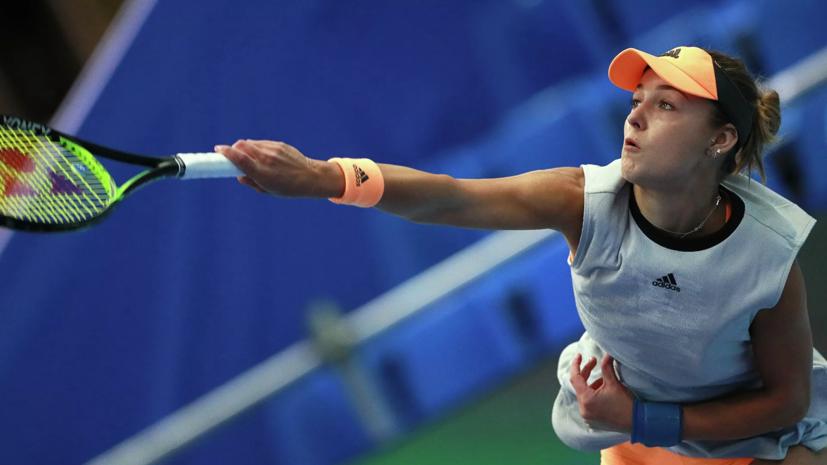 Калинская уступила Паолини в матче второго круга турнира в Портороже