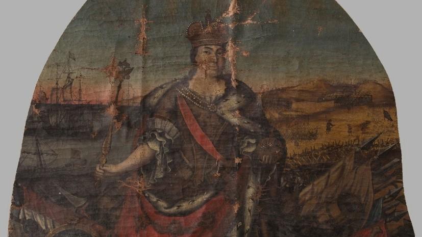 Музей-заповедник «Царское Село» получил в дар фрагмент картины «Аллегория на правление Екатерины I»