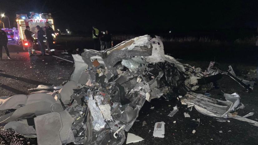 В ДТП под Краснодаром погибли четыре человека