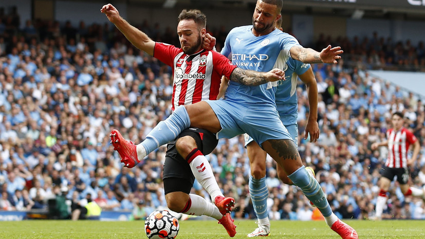 Матч АПЛ между «Манчестер Сити» и «Саутгемптоном» завершился безголевой ничьей