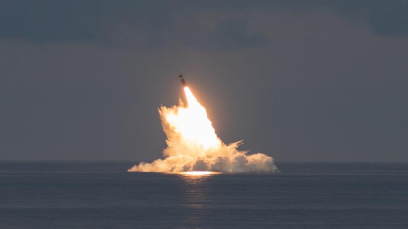 США испытали баллистическую ракетуTrident II