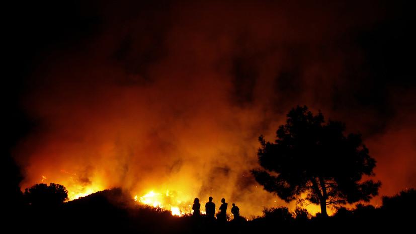 Крупный природный пожар разгорелся на западе Кипра