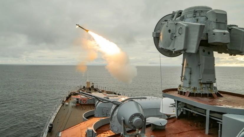 Российские корабли провели учения по защите Севморпути