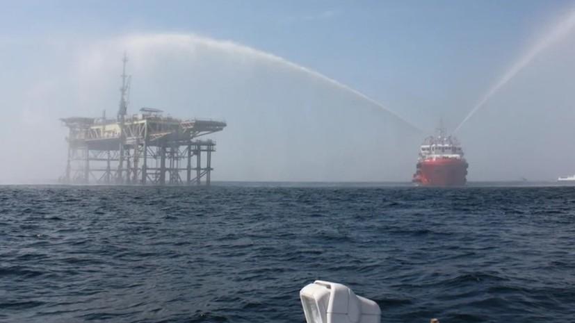 На газодобывающей платформе в Чёрном море прошли антитеррористические учения