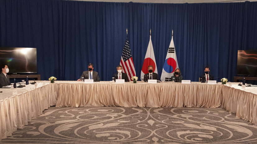Главы МИД Японии и Южной Кореи обсудили с Блинкеном проблему денуклеаризации КНДР