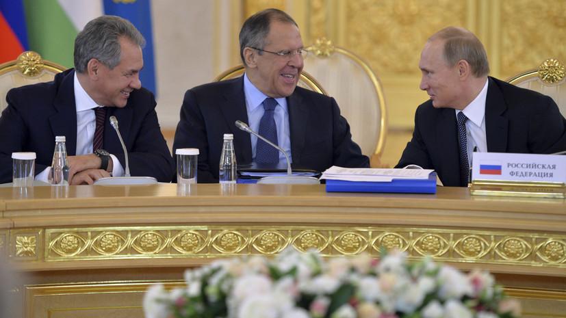 В Кремле сообщили о планируемых встречах Путина с Лавровым и Шойгу