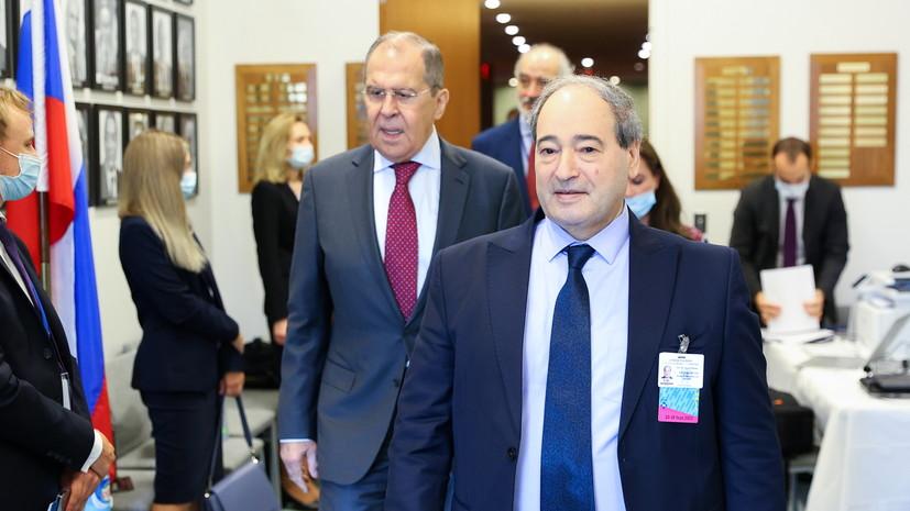 Лавров обсудил с главой сирийского МИД ситуацию в Сирии