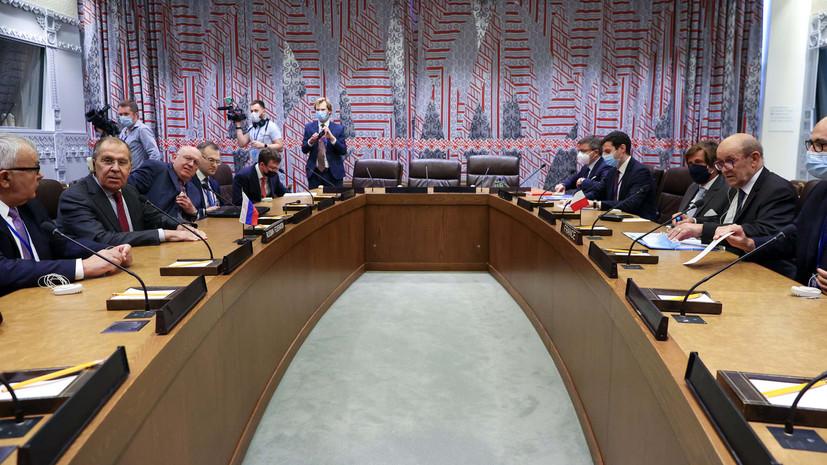 В МИД России рассказали о темах переговоров Лаврова с французским коллегой