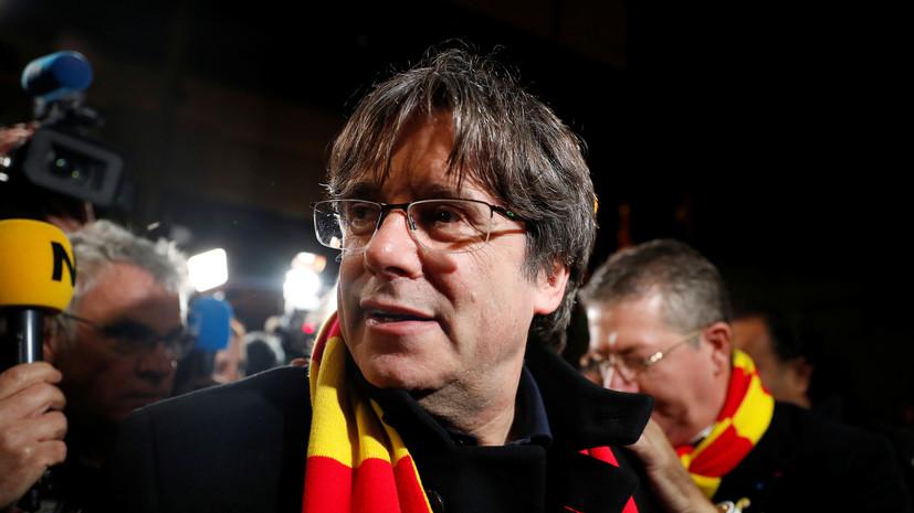 Адвокат сообщил о задержании в Италии экс-главы Каталонии Пучдемона
