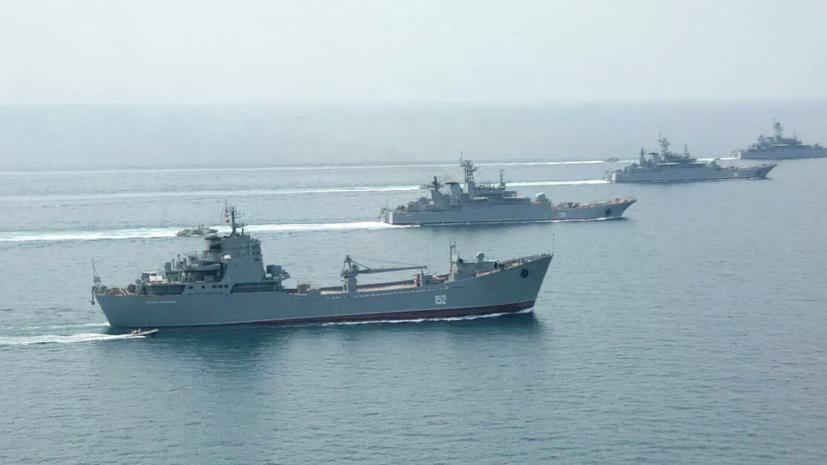 КораблиЧФ выполнили стрельбы на учениях в Чёрном море