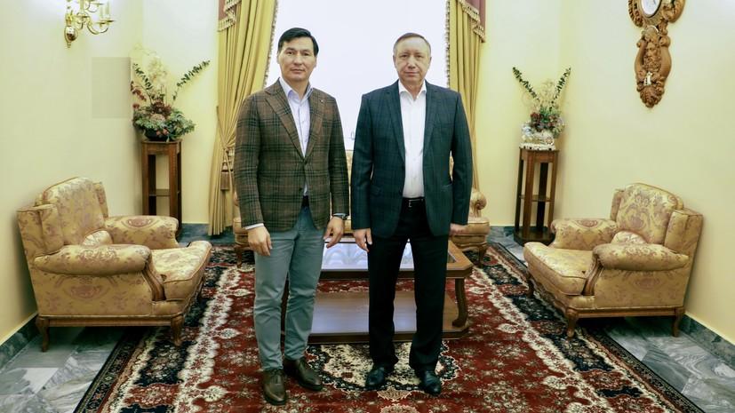 Беглов и Хасиков обсудили вопросы сотрудничества Петербурга и Калмыкии