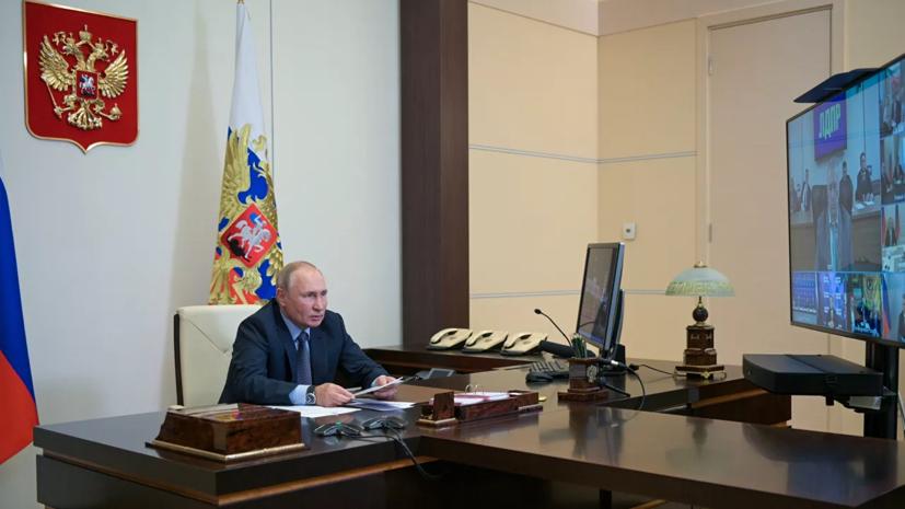 Путинприветствовал «боевой накал» на совещании кабмина
